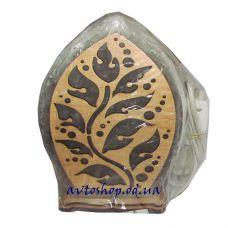Солевой светильник лист 1235