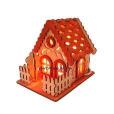 Соляной светильник дом с деревом