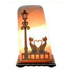 Соляной светильник коты и фонарь