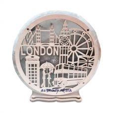 Соляной светильник круг большой London