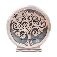 Соляной светильник круг Дерево $ большой