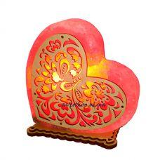 Соляной светильник сердце 1234