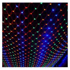 Гирлянда сетка 200 LED(120L) ламп мультик, 1.5*1.5 метра