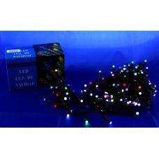 Светодиодная гирлянда 100Led RGB на черном проводе