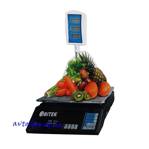 Весы торговые Vitek 55 кг со стойкой (6V аккумулятор)