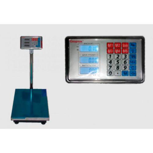 Весы ACS 300kg 40*50 с железной головой и аккумулятором на 6V