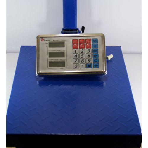 Весы ACS 300kg FOLD 40*50 с железной головой, усиленной площадкой и аккумулятором на 6V