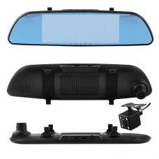 Автомобильный видеорегистратор-зеркало 701 с двумя камерами, 7'', 1080P Full HD