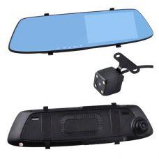 Автомобильный видеорегистратор-зеркало L-1001C+ выносная камера, 5'', 1080P Full HD