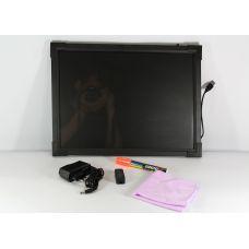 Рекламная светящаяся LED доска 40*60 флуоресцентная / Доска для маркера Led Fluorescent Board / FLUORECENT BOARD 40*60 c фломастером и салфеткой