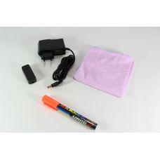 Рекламная светящаяся LED доска 60*80 флуоресцентная / Доска для маркера Led Fluorescent Board / FLUORECENT BOARD 60*80 c фломастером и салфеткой