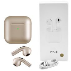 Беспроводные bluetooth-наушники AirPods Pro 4 mini original с кейсом, gold
