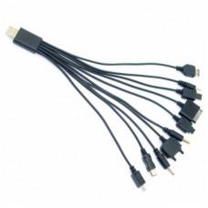 Универсальный USB кабель для зарядки телефонов 10 в 1 (2032)