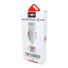 Автомобильная зарядка EMY-110 2.4mAh