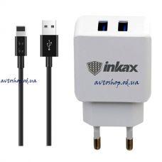 Адаптер Inkax CD-01 с кабелем для Iphone 2.1mAh