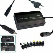Зарядка для ноутбука 120 W (сеть+авто)