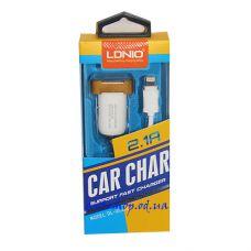 Автомобильная зарядка Iphone 5/6 LDNIO 2.1mAh White